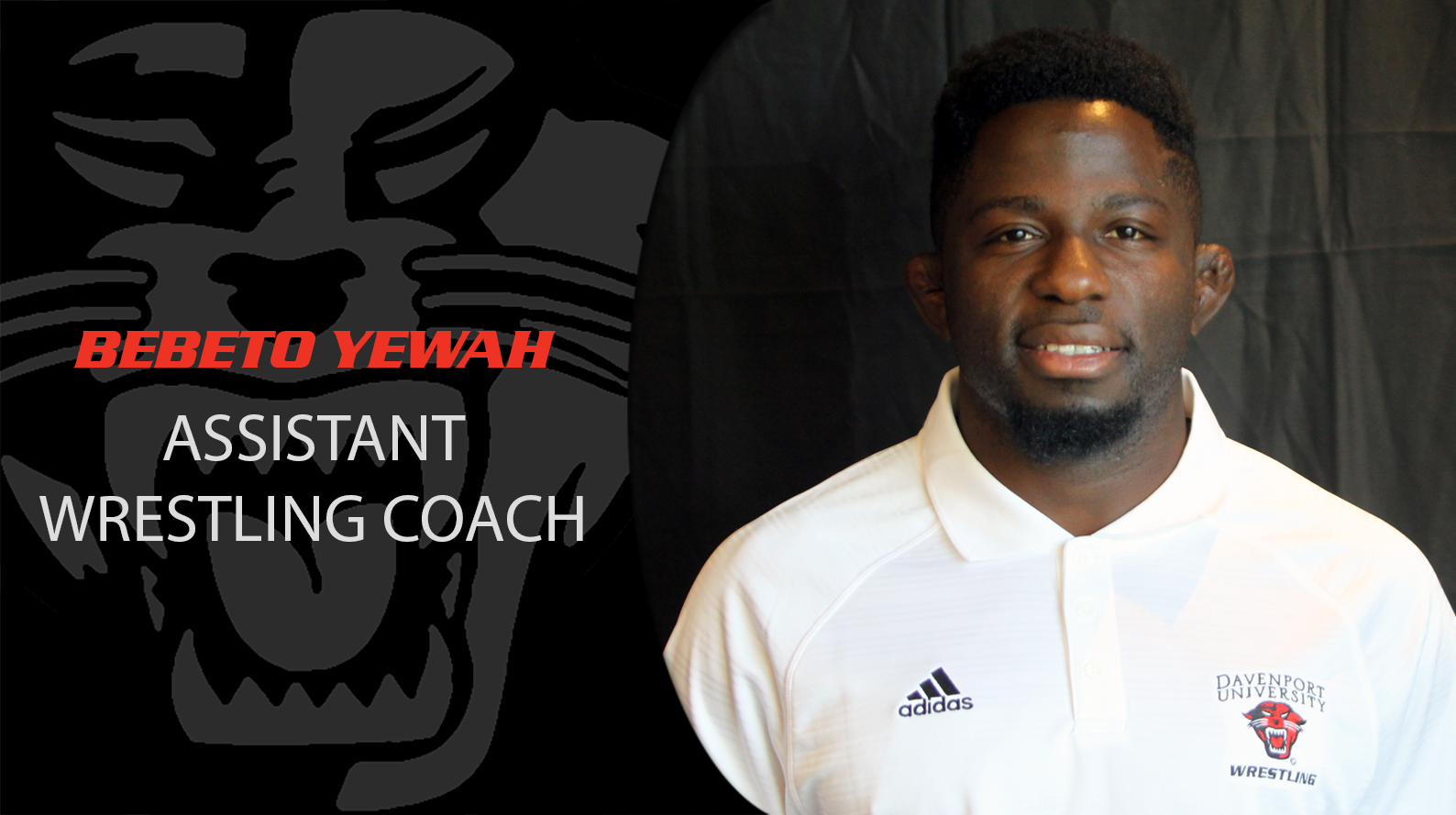 Bebeto Yewah promoted to wrestling assistant coach